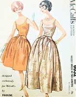 1960s GORGEOUS Pauline Trigere Evening Dress or Gown Pattern McCALLS 6032 Cocktail Party or Gala Ball Gown Length, Lovely Design Details,Bust 34 Vintage Sewing Pattern FACTORY FOLDED
