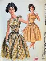 1960s PLAYFUL Dress in Two Styles McCall's 6219 Bust 33 Vintage Sewing Pattern