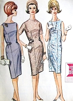 1960s CLASSIC Shift Dress with Belt McCall's 6803 Bust 32 EASY To Sew Vintage Sewing Pattern