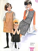 1960s SWEET Little Girls Dress or Jumper and Blouse Top Pattern McCALLS 6971 Childrens Clothing Designer Helen Lee A Quickie Vintage Sewing Pattern
