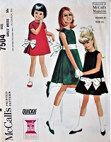 1960s CUTE Little Girls Party Dress Pattern McCALLS 7504 Childrens Designer Helen Lee Pretty Girls Dress Three Sweet Versions Size 4 Vintage Sewing Pattern FACTORY FOLDED