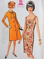 1960s Vintage CHIC Slim Dress and Coat McCalls 7699 Bust 34 Sewing Pattern