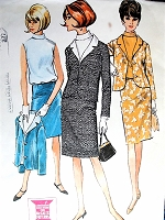 1960s CHIC Slim Suit and Blouson Blouse Pattern McCALLS 7975 Casual or Dressy Stylish Suit Bust 31 Vintage Sewing Pattern FACTORY FOLDED