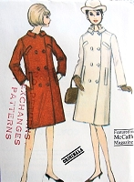 1960s ELEGANT Designer Originala Straight Coat Pattern McCALLS 8048 New York Designers Collection Very Audrey Hepburn Style Bust 32 Vintage Sewing Pattern FACTORY FOLDED