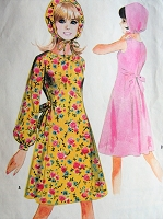 1960s Vintage LOVELY MOD Dress and Hat McCall's 8372 Sewing Pattern Bust 30 1/2