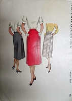 1950s CHIC Skirt Pattern McCALLS 8523 Flattering Style Waist 26 Vintage Sewing Pattern