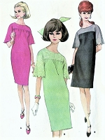 1960s CUTE Day or Party Dress Pattern McCALLS 8552 EASY To Sew Two Style Versions Bust 30 Vintage Beginners Sewing Pattern UNCUT