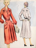 1950s CHARMING Dress McCall's 8690 Vintage Sewing Pattern Bust30