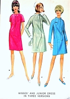 MOD 60s Dress Pattern McCALLS 8862 Fab Style 3 Versions Bust 34 Vintage Sewing Pattern UNCUT