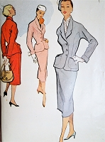1950s STUNNING Fitted Suit Pattern McCALLS 8863 Beautiful Design Details, Nip In Waist Jacket, Slim Skirt,Bust 32 Vintage Sewing Pattern