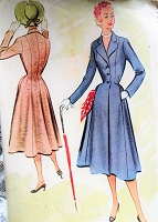 1950s FABULOUS Fitted Coat Pattern McCALLS 8865 Beautiful Figure Flattering Design Bust 30 Vintage Sewing Pattern