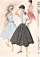 1950s LOVELY Day or Party Evening Skirt Blouse and Jacket Pattern McCALLS 8872 Figure Flattering Styles Bust 35 Vintage Sewing Pattern