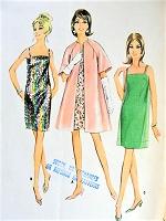 1960s MOD Evening Cocktail Party Dress or Slip, Overdress and Coat Pattern McCALLS 9004 Easy Elegance For Special Occasions Bust 31 Vintage Sewing Pattern