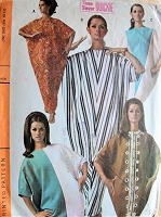 1960s Vintage HAUTE Kaftan or Abba in Five Styles McCall's 9026 Sewing Pattern