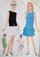 1960s MOD Sleeveless Dress McCalls 9157 Bust 36 Vintage Sewing Pattern