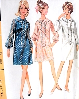 1960s MOD Dress or PantDress Pattern McCALLS 9221 Three CUTE Styles Bust 32 Vintage Sewing Pattern FACTORY FOLDED