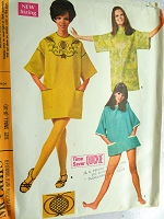 1960s Vintage FUN Beach Cover T-shirt Dress with Embroidery Transfer McCall's 9251 Bust 31 1/2- 32 1/2