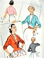 1950s BEAUTIFUl Jacket Set Pattern McCALLS 9319 Three Fab Styles Bust 34 Vintage Sewing Pattern