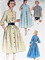 Vintage 1950s CASUAL Dress, Negligee or Jacket  Pattern McCALLS 9385 Bust 32 Vintage Sewing Pattern