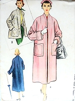 1950s STYLISH Coat or Jacket Pattern McCALLS 9421 Easy Elegance Bust 36 Vintage Sewing Pattern FACTORY FOLDED