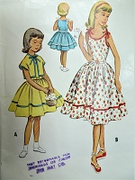 1950s SWEET Girls Dress and Jacket Pattern McCALLS 9451 Cute Tie shoulders Dress and Bolero Jacket Size 8 Vintage Sewing Pattern