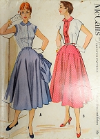 1950s CUTE Dress and Bolero Jacket Pattern McCALLS 9636 Figure Flattery Design Bust 32 Vintage Sewing Pattern
