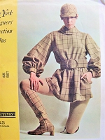MOD 1960s Rudi Gernreich Mini Dress Pattern McCALLS 1045 Features Peggy Moffitt Photo Bust 32 Vintage Sewing Pattern