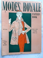 FABULOUS Vintage 1950s Modes Royale PATTERN BOOK Catalog for Fall and Winter 1954-55 with 44 Pages Gorgeous Inspiring Pattern Illustrations