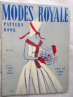 FABULOUS Vintage 1950s Modes Royale PATTERN BOOK Catalog for Spring and Summer 1955 with 44 Pages Gorgeous Inspiring Pattern Illustrations