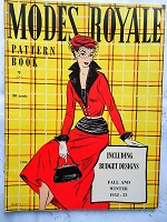 FABULOUS Vintage 1950s Modes Royale PATTERN BOOK Catalog for Fall and Winter 1952-53 with 44 Pages Gorgeous Inspiring Pattern Illustrations