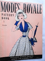 FABULOUS Vintage 1950s Modes Royale PATTERN BOOK Catalog for Spring and Summer 1953 with 44 Pages Gorgeous Inspiring Pattern Illustrations