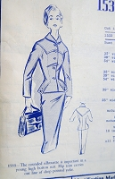 1950s STUNNING Suit Pattern MODES ROYALE 1533 Beautiful Designer Detailed Flattering Slim Skirt Suit Bust 32 Vintage Sewing Pattern