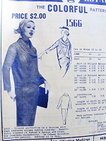 1950s  CLASSY Suit Pattern MODES Royale 1566 Unique Button Closing, Slim Pencil Skirt Bust 34 Vintage Sewing Pattern