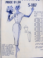 1950s CHIC Casual Dress Modes Royale 187 Vintage Sewing Pattern Bust 34