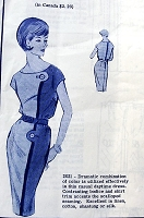 1960s DRAMATIC Slim Dress Pattern MODES ROYALE 2021 Color Block Contrast Use, Easy Elegance Bust 36 Vintage Sewing Pattern FACTORY FOLDED