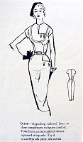 1950s UNIQUE Sheath Dress Pattern MODES ROYALE 240 Daytime or Evening Cocktail Party Dress Interesting Design Tailored Slim Dress Bust 32 Vintage Sewing Pattern FACTORY FOLDED