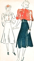 1930s BEAUTIFUL Blouse, CORSET Waist Bias Cut Skirt Pattern  NEW YORK 1064 Two Blouse Styles B 34 Vintage Sewing Pattern FACTORY FOLDED