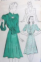 1930s Vintage LOVELY Dress in Three Styles New York 1491 Sewing Pattern Bust 36