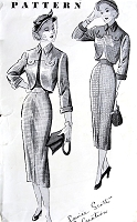 1940s CHIC Slim Skirt Suit Pattern New York 923 Louise Scott Creation Slim Skirt Beautifully Detailed Bolero Jacket Bust 34 Vintage Sewing Pattern FACTORY FOLDED