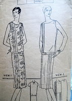 1920s FABULOUS Drop Waist Dress Pattern PICTORIAL Review 4671 Art Deco Dress in 2 styles Bust 40 Vintage Sewing Pattern