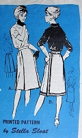 1960s STYLISH Skirts in Two Styles Prominent Designer 113 Waist 26 Retro Sewing Pattern