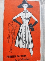 1960s Vintage CLASSIC Button Up Dress with Full Skirt Prominent Designer 340 Sewing Pattern Bust 40