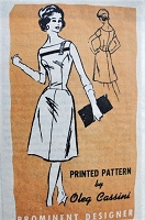 1960s ALLURING Oleg Cassini Cocktail Party Dress Pattern PROMINENT Designer 631 Flattering Bateau Neckline Lower Waist Flared Skirt Bust 32 Vintage Sewing Pattern FACTORY FOLDED