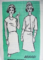 1960s CLASSY 2pc Suit and Blouse Pattern PROMINENT Designer 652 Scaasi Slim Skirt, Overblouse and Eye Catching Jacket Day or Cocktail Party Bust 34 Vintage Sewing Pattern FACTORY FOLDED