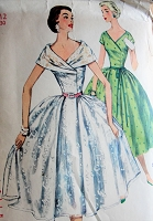 BEAUTIFUL 1950s Party Dress Pattern SIMPLICITY 1115 Two Lovely Styles Bust 30 Vintage Sewing Pattern