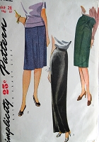 1940s Vintage LOVELY Wrap Around Skirt in Three Styles with Optional Bow Simplicity 1122 Sewing Pattern