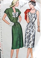 1940s CUTE Sundress and Bolero Pattern SIMPLICITY 1925 Front Button dress Sweetheart Neckline Shaped Front Bolero Bust 30 Vintage Sewing Pattern