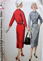 1950s FAB Slim Skirt Suit Pattern SIMPLICITY 1954 Crop Jacket,Slim Pegged Skirt The 'Dutch Boy' From Paris Style Bust 36 Vintage Sewing Pattern