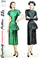1940s FILM NOIR Drop Waist Evening Dress Pattern SIMPLICITY 2143 Draped and Side Large Bow PerfectEvening Cocktail Party Dress Bust 36 Vintage Sewing Pattern FACTORY FOLDED