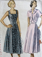 1940s Vintage LOVELY Sundress and Jacket Simplicity 2408 Bust 35 Sewing Pattern